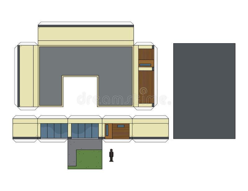 Het document model van een huis stock illustratie