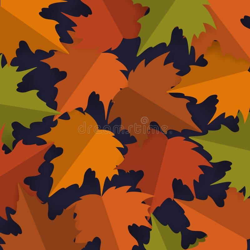 Het document sneed de bladerenachtergrond van de stijlesdoorn, de vector van de de dankzeggingsbanner van de de herfstdaling royalty-vrije illustratie