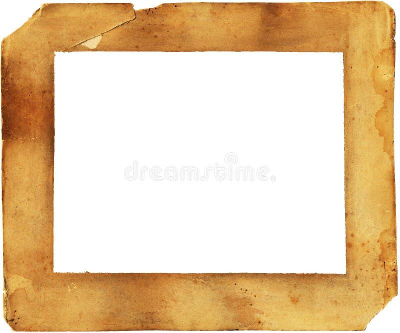 Het document van de 19de Eeuw verslechterd en bevlekt frame -