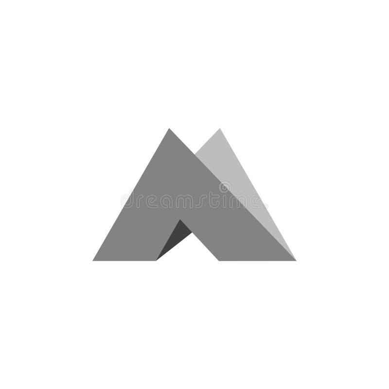 Het document van de brievenm driehoek 3d embleemvector royalty-vrije illustratie