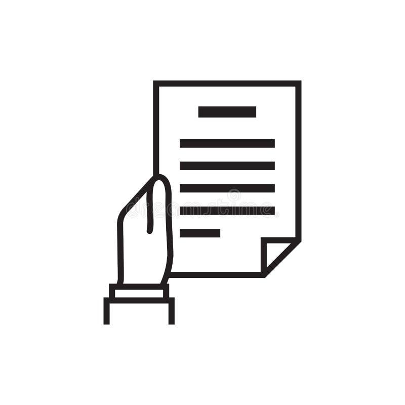 Het Document van de handholding vector illustratie