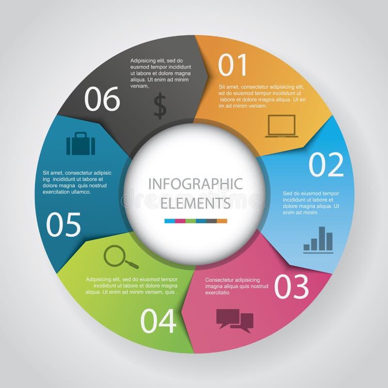 Het Document van de Infographicbloem stock illustratie