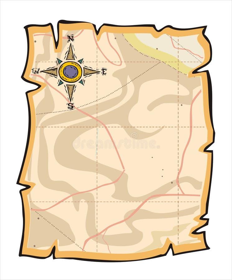 Het document van de kaart vector illustratie