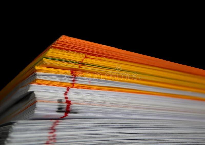 Het document van de kleur blad stock foto