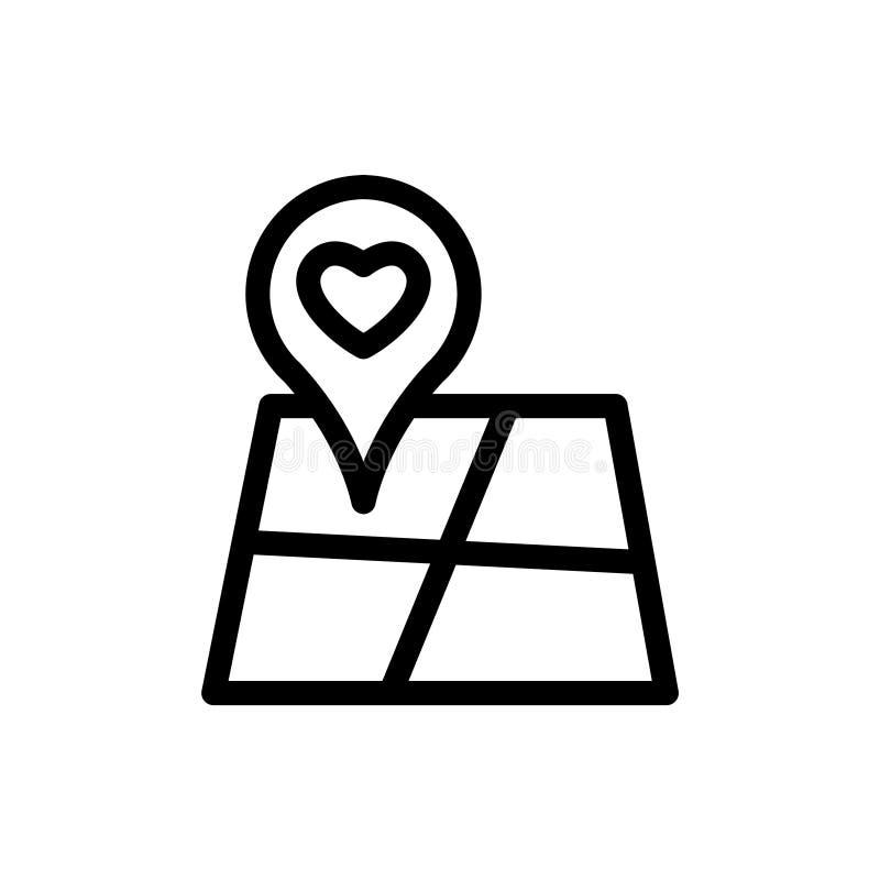 Het document van de liefdekaart stock illustratie