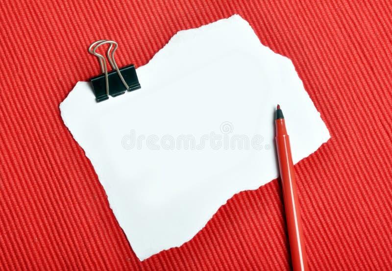 Het document van de nota stock fotografie