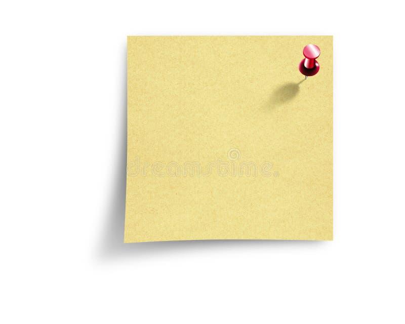 Het document van de nota vector illustratie