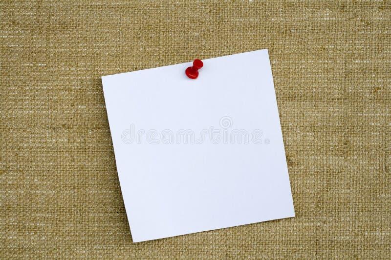 Het Document van de nota op de Raad van het Bericht royalty-vrije stock foto's