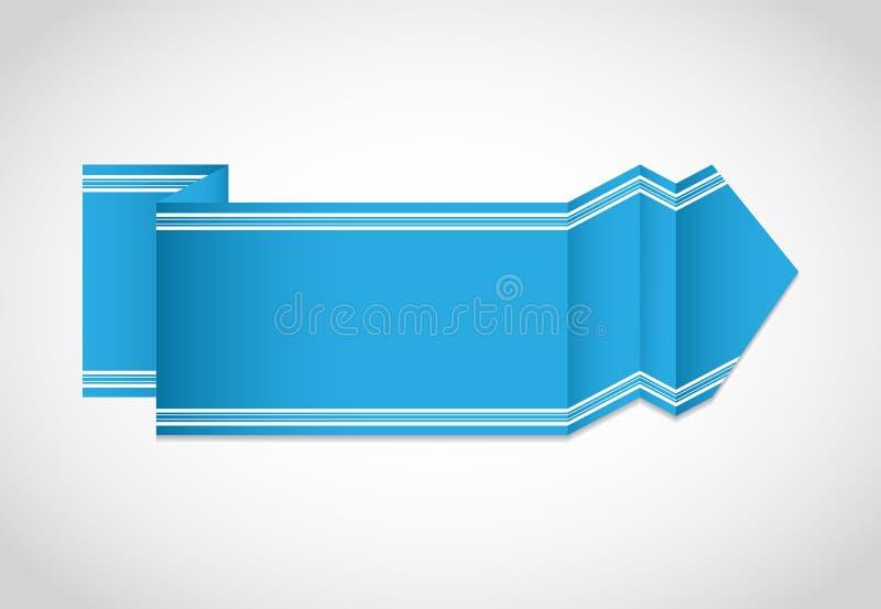 Het document van de origami banner royalty-vrije illustratie