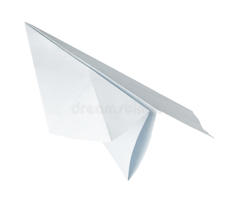 Het document van de origami vliegtuig stock foto's