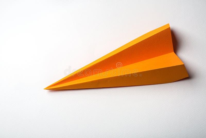 Het document van de origami vliegtuig royalty-vrije stock foto