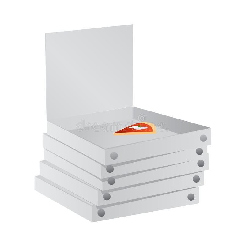 Het document van de pizza vakjes vector vector illustratie