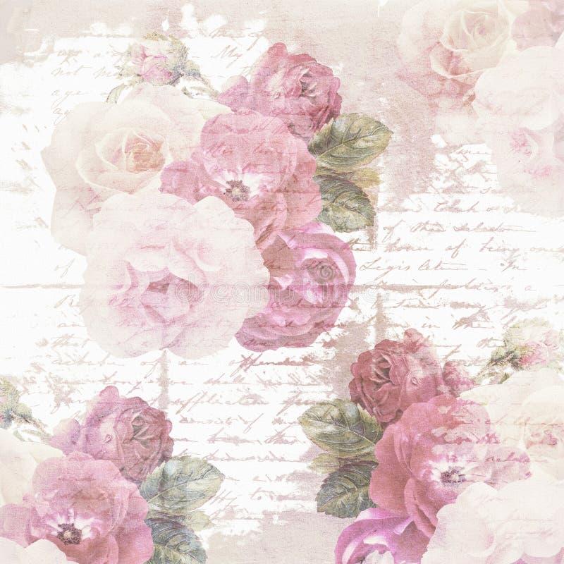 Het document van de plakboekbloem textuur stock fotografie