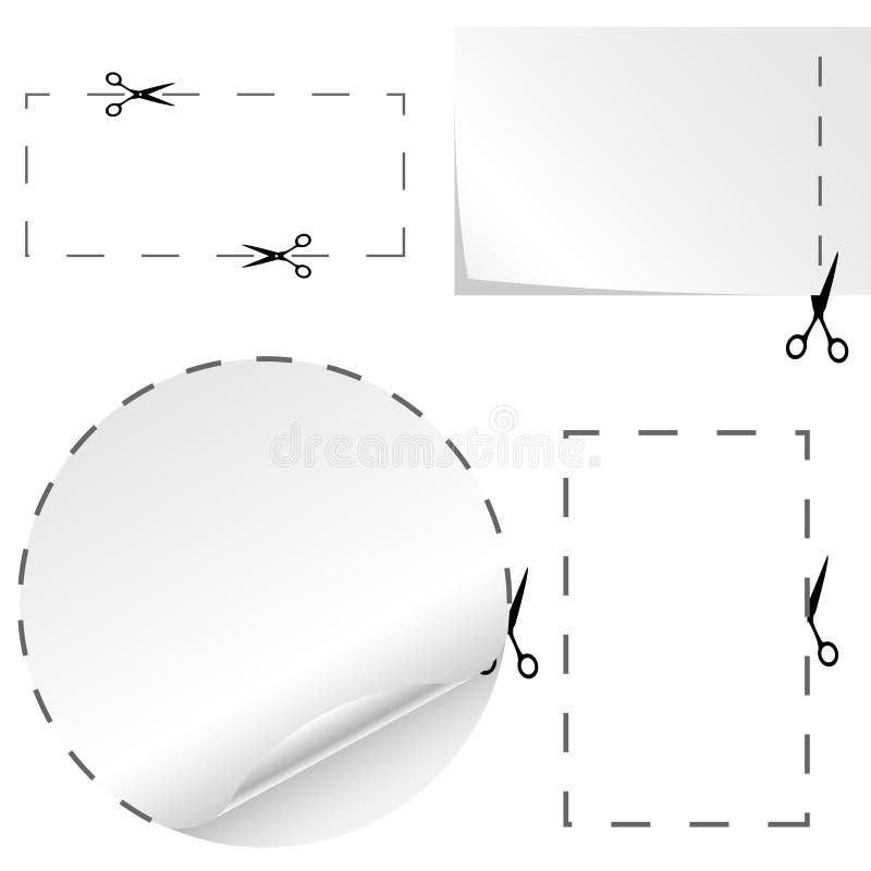 Het document van de scheiding coupons vector illustratie
