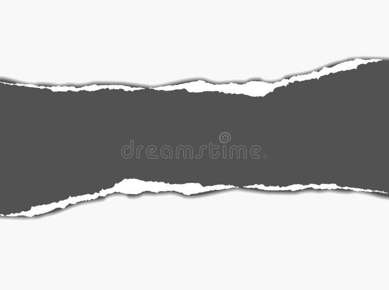 Het document van de scheur stock illustratie