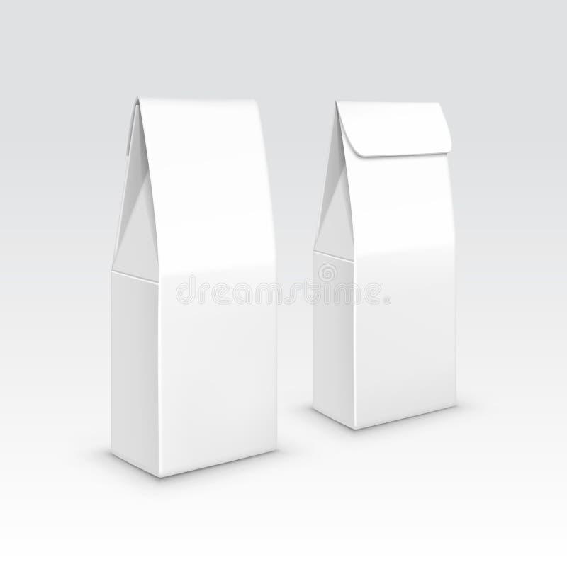 Het document van de theekoffie de vector van de het pakzak van het verpakkingspakket stock illustratie