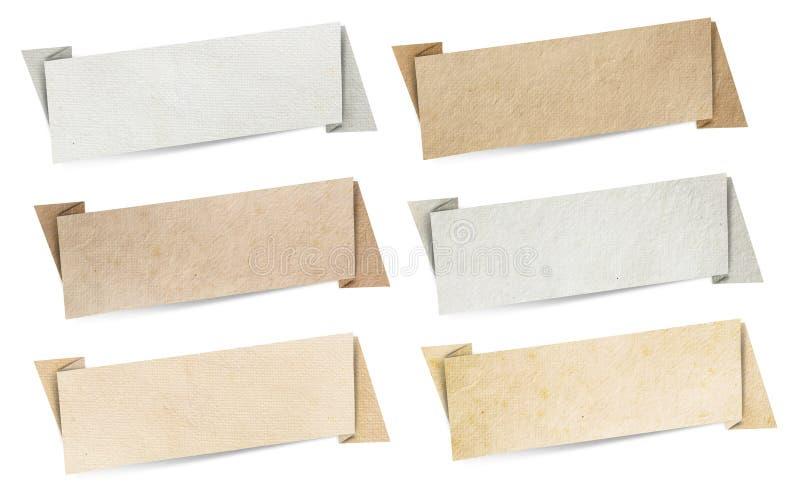 Het document van de toespraakbanners van de origami textuur royalty-vrije stock foto's