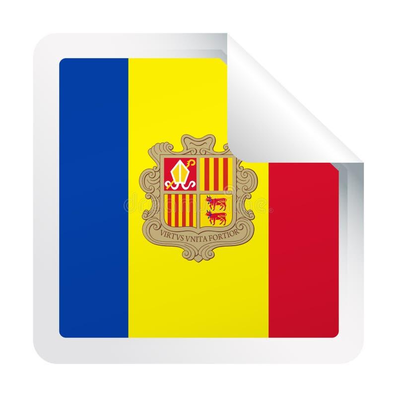 Het Document van de de Vlag Vector Vierkant Hoek van Andorra Pictogram stock illustratie