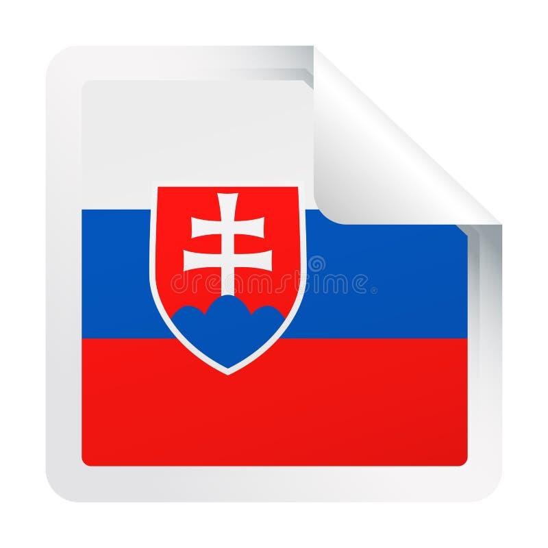 Download Het Document Van De De Vlag Vector Vierkant Hoek Van Slowakije Pictogram Stock Illustratie - Illustratie bestaande uit vlag, document: 107703201