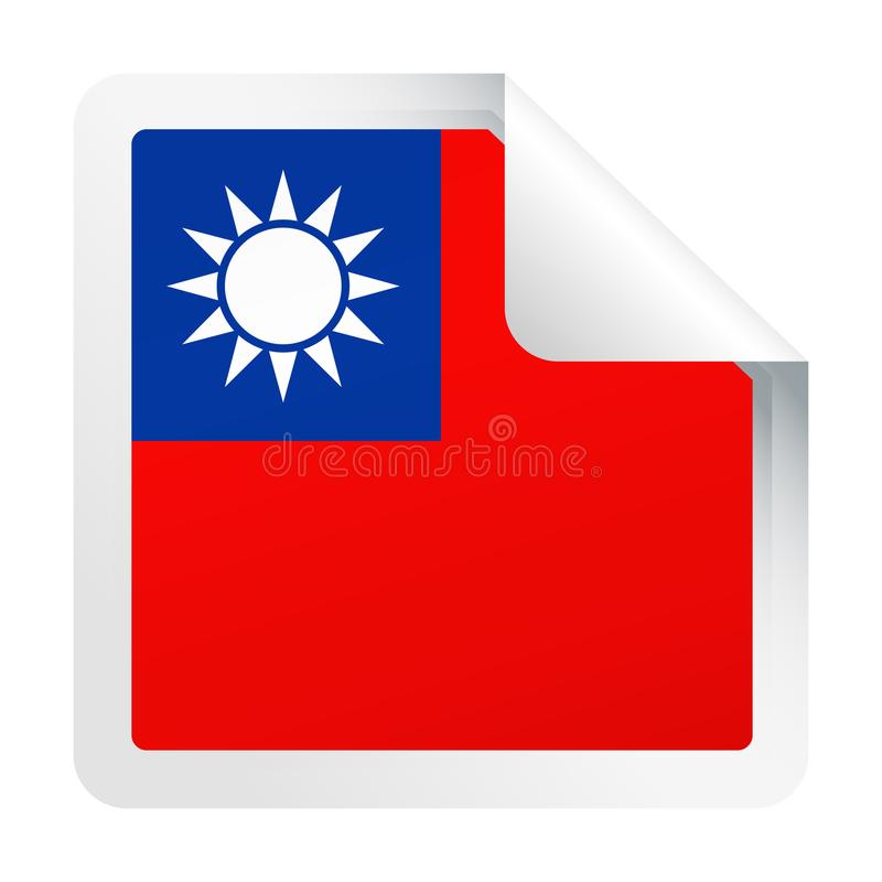 Download Het Document Van De De Vlag Vector Vierkant Hoek Van Taiwan Pictogram Stock Illustratie - Illustratie bestaande uit vierkant, verkiezing: 107702746