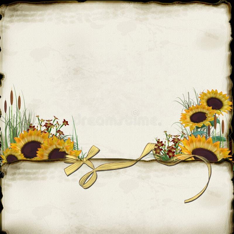 Het Document van de zonnebloem royalty-vrije illustratie