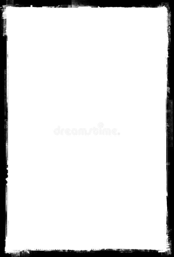 Het document van Grunge frame, grunge grens vector illustratie