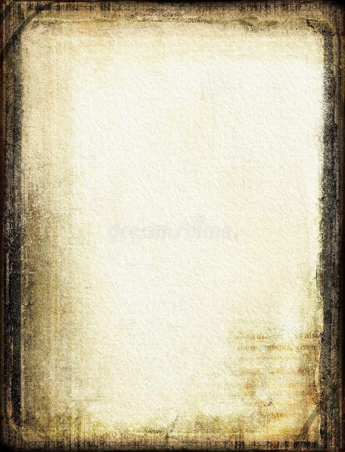 Het document van Grunge met frame stock illustratie