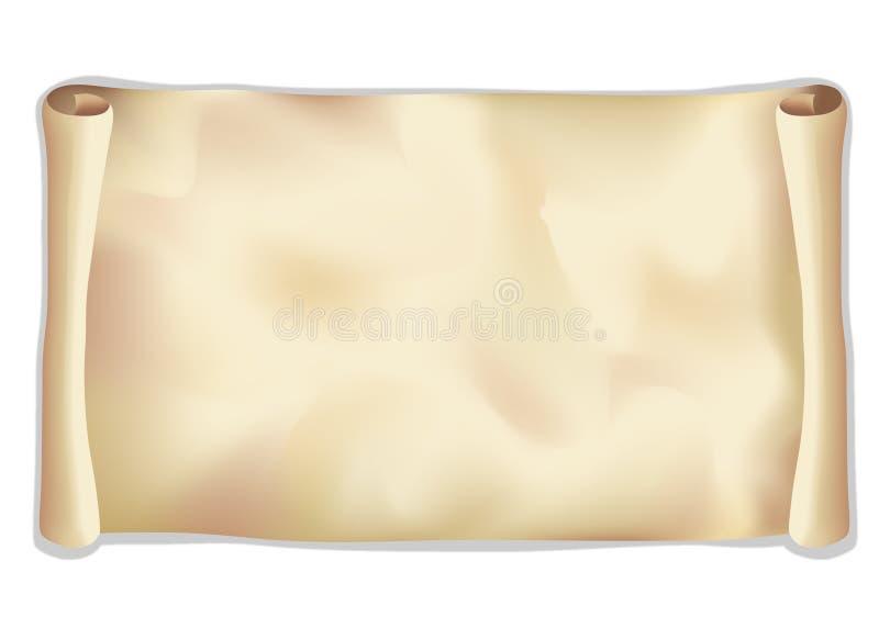 Het document van het broodje stock illustratie