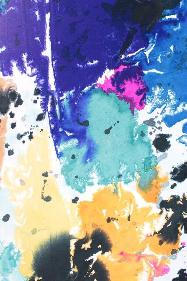 Het Document van het deeg: Purpere, Blauwe, en Zwarte Wervelingen royalty-vrije stock foto