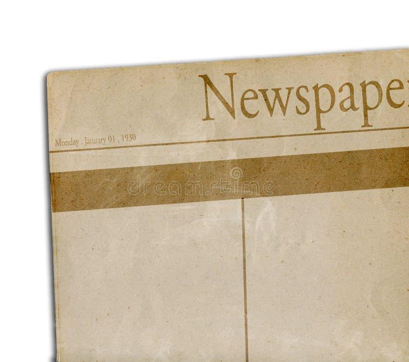 Het document van het nieuws stock illustratie