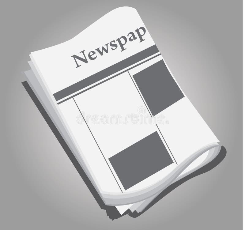 Het document van het nieuws vector illustratie