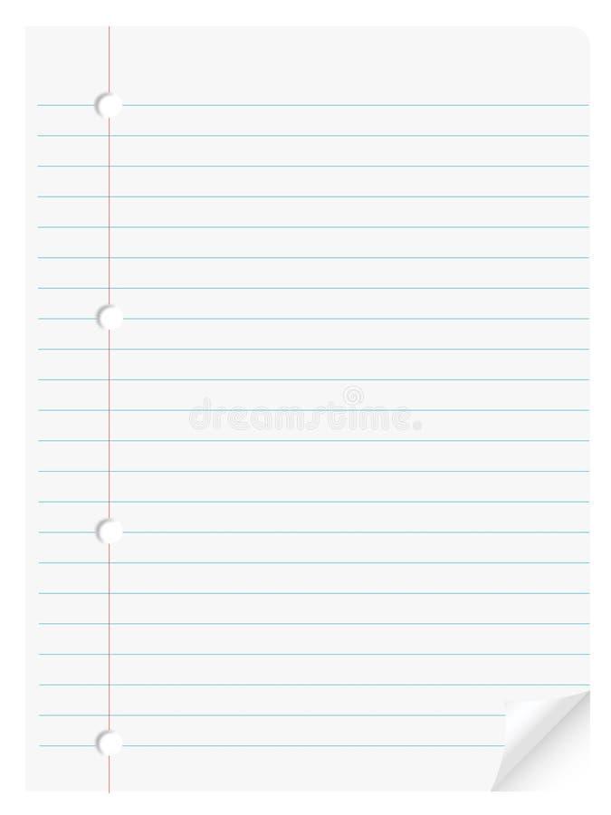 Het document van het notitieboekje royalty-vrije illustratie