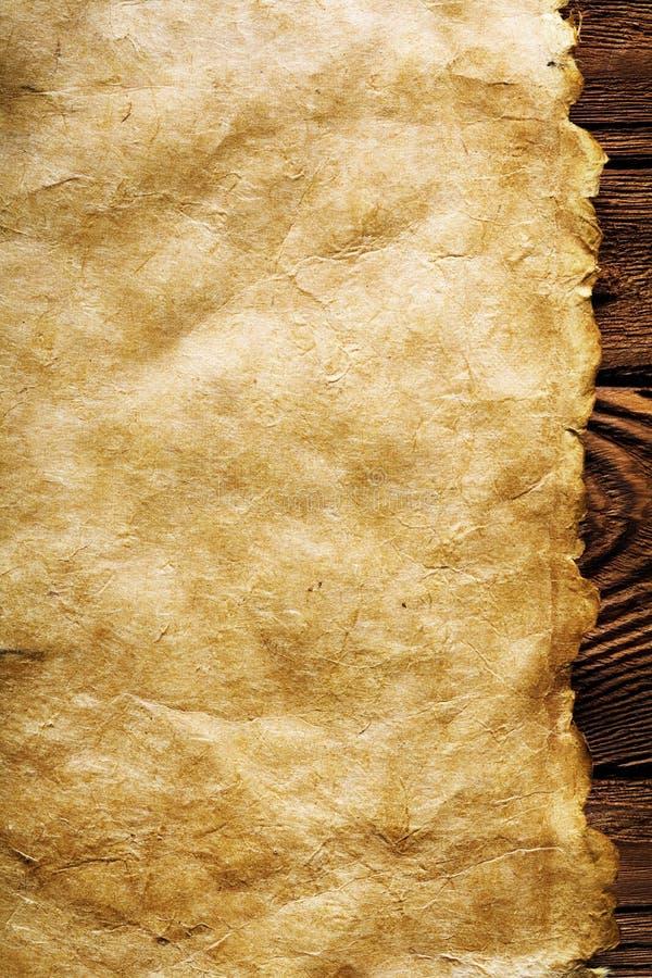 Het document van het perkament achtergrond stock foto
