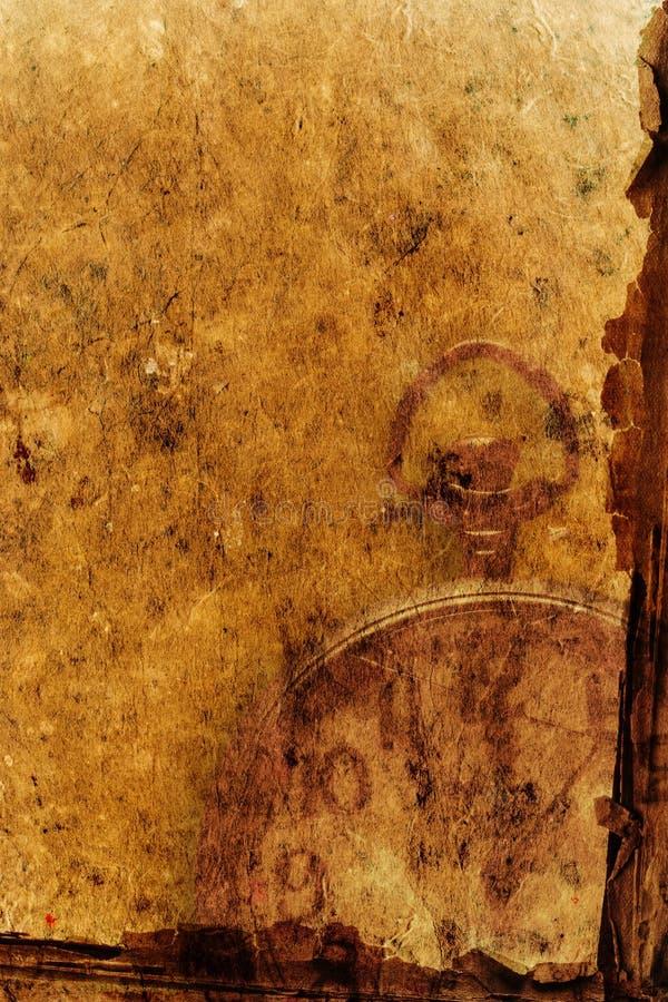 Het document van het perkament achtergrond stock fotografie