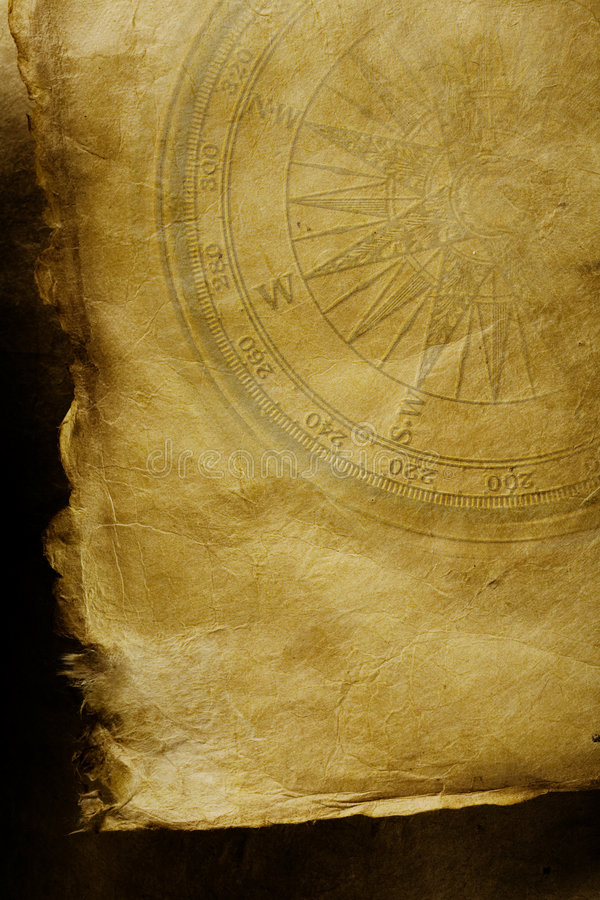 Het document van het perkament achtergrond stock foto's