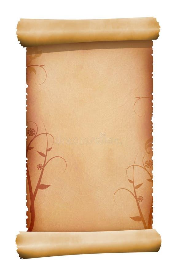 Het document van het perkament rol royalty-vrije illustratie