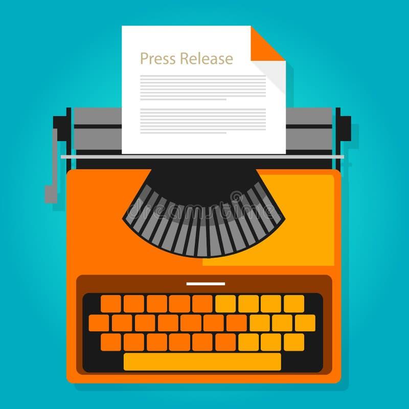 Het document van het persmededelingsnieuws het conceptensymbool van de publicatieillustratie stock illustratie