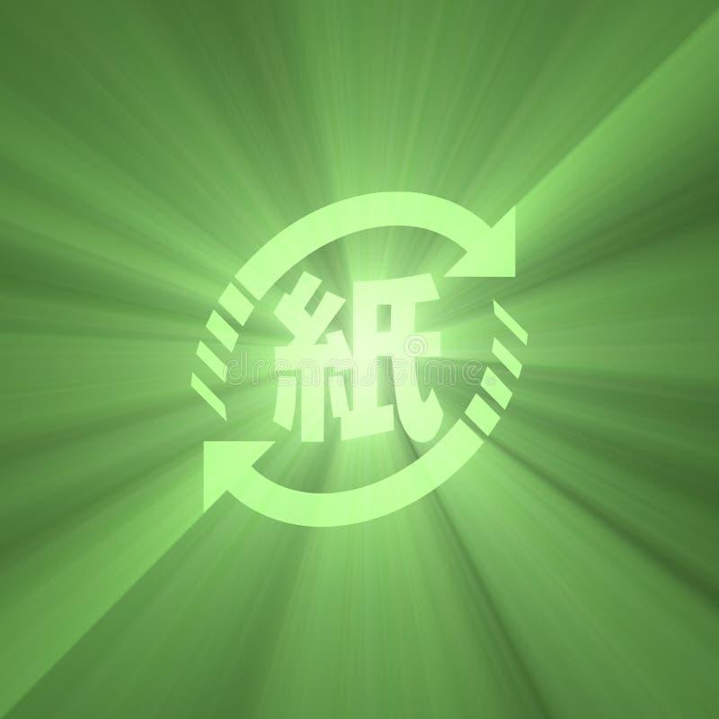 Het document van Japan de kringloopgloed van het symbool groene licht royalty-vrije illustratie
