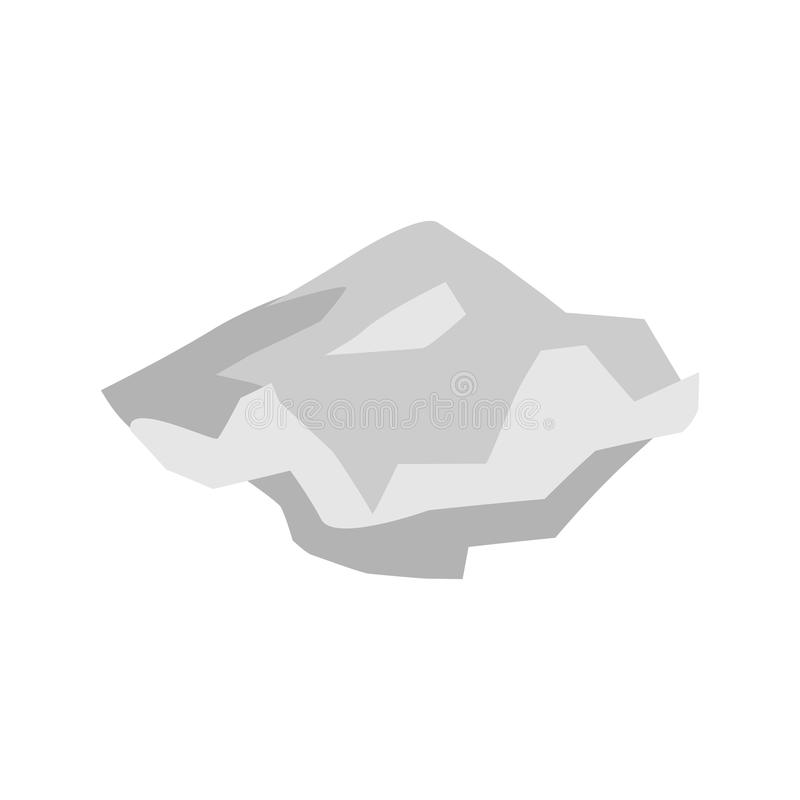 Het document verpletterde geïsoleerd huisvuil bladvuilnis op witte backgrou royalty-vrije illustratie