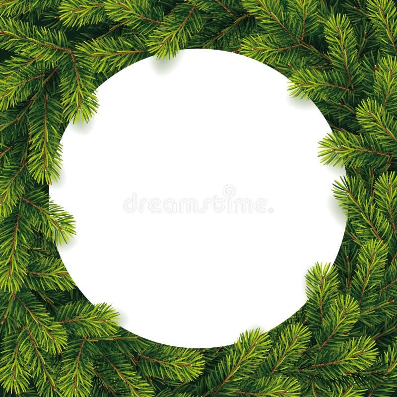 Het document voor Kerstmislijst op een pijnboom vertakt zich royalty-vrije illustratie