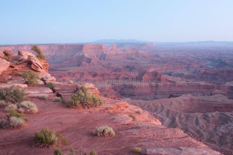 Het dode Park van de Staat van het Punt van het Paard in Utah stock afbeelding