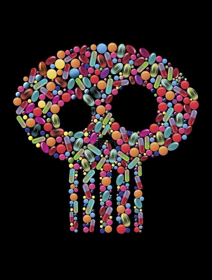 Het doden van drugs stock illustratie