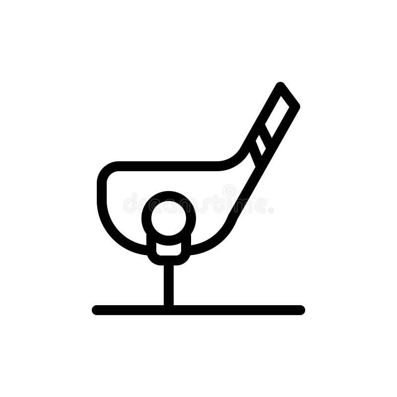 Het doel, de Bal, de Club, het Golf, de Geschotene Blauwe en Rode Download en kopen nu de Kaartmalplaatje van Webwidget vector illustratie