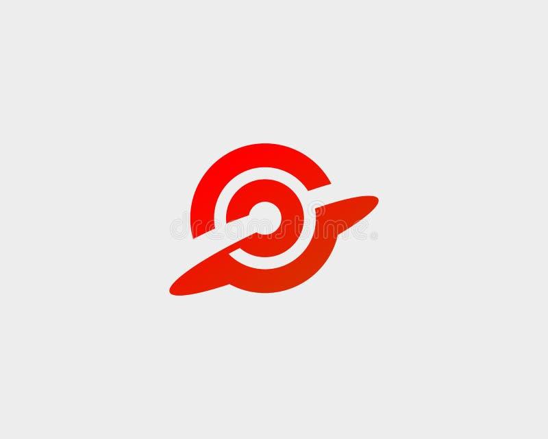 Het doel van het doeldoel logotype Het abstracte vectorembleem van het beginsucces stock illustratie