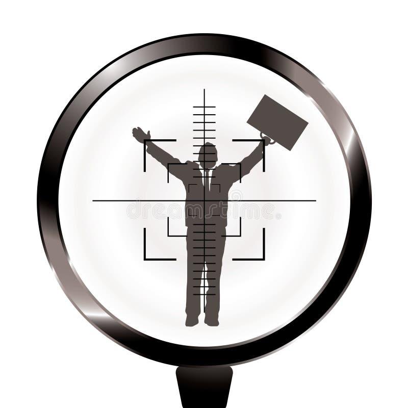 Het doel van het bedrijfsmensengeweer vector illustratie
