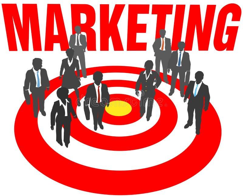 Het doel van het bedrijfsmensenteam marketing stock illustratie