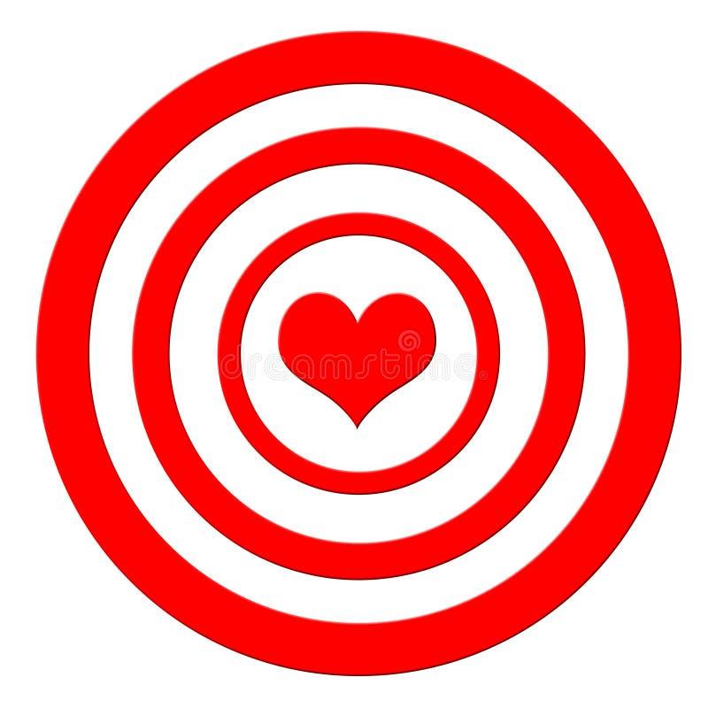 Het doel van het hart royalty-vrije illustratie