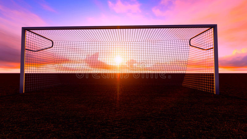 Het Doel van het voetbal vector illustratie