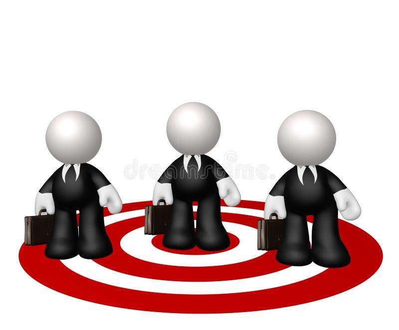 Het doelpictogram van de zakenman royalty-vrije illustratie