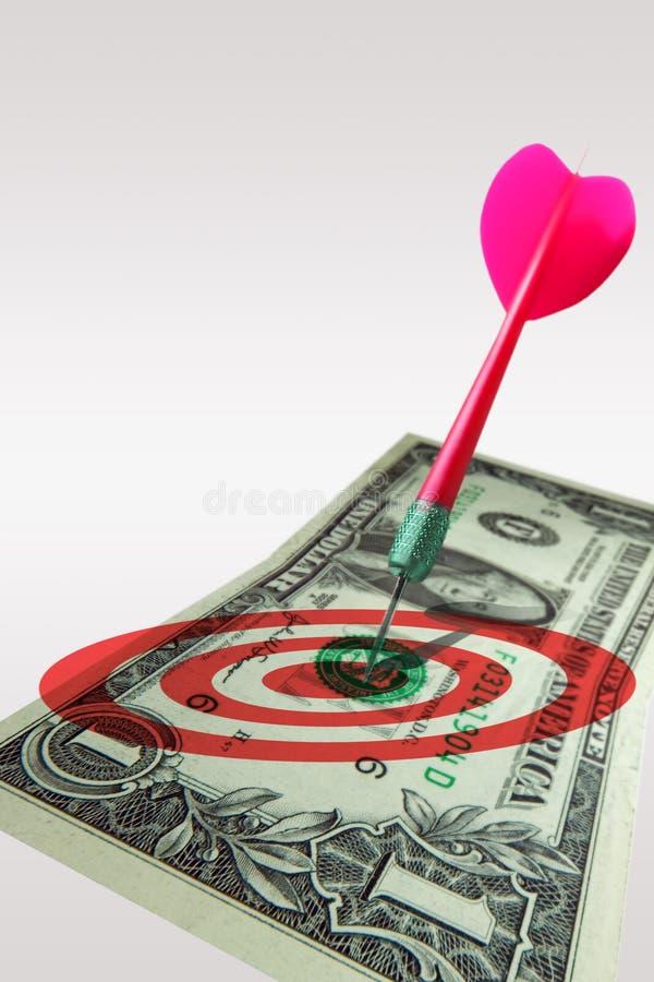 Het doelverkoop van de marketing royalty-vrije stock afbeelding
